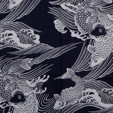 Kimono Herren Karpfen Muster
