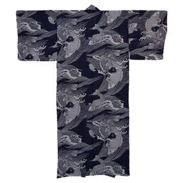 Kimono Herren Karpfen Rücken