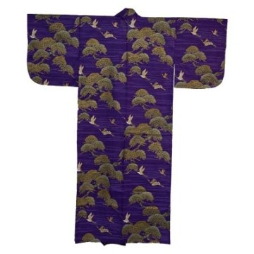 Kimono für Damen Kiefer und Kranich Lila