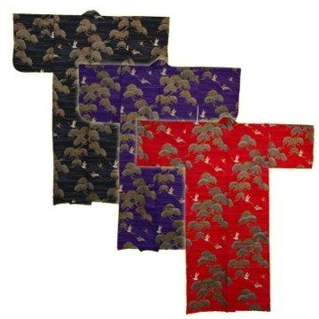 Kimono für Damen Kiefer und Kranich Farbig