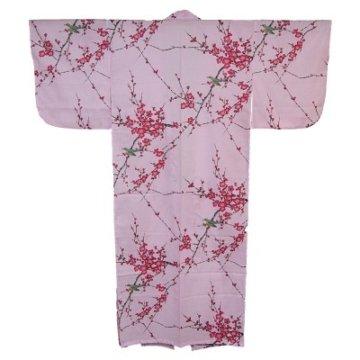 Kimono für Damen Nachtigall und Pflaume Rosa