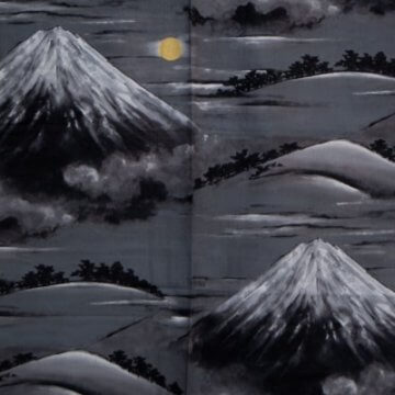 Kimono für Herren Fuji-san Muster
