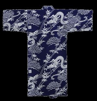 Kinder Kimono Drache Blau