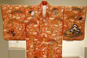 Kimono Yuzen Traditionell Original Orange