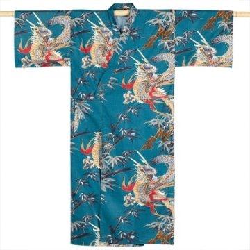Kimono Drachen Extra Lang Petrol