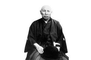 Alter mann im montsuki Kimono