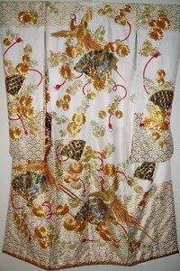 Goldenes Phoenix Motiv auf Kimono