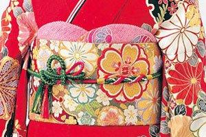 Obijime Kimonogürtel aus dünnen Seilen.