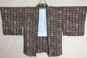 dochougi Kimono Jacke mit komplexem muster