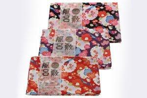 3 Furoshiki in verschiedenen Mustern und Farben