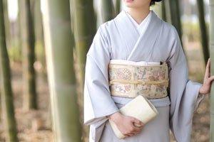 Iro Muji Kimono Blau