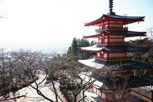Japanische Winter Szenerie.