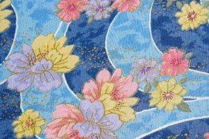 Kimono Symbol Flüsse mit schönen bunten Blumen