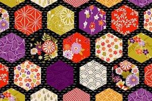 Kimono Symbol Hexagonales Muster